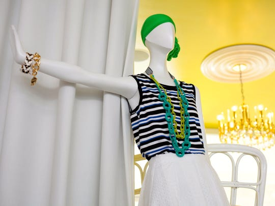 Signature accessories and women's clothing are on display at the Trina Turk Boutique in Palm Springs, which first opened in 2002.