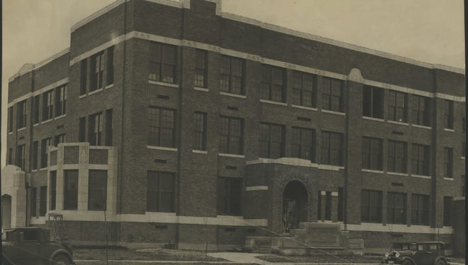 This historic photo shows a brand new Wauwatosa  Roosevelt Elementary School. It was opened  March 1930. The school is being considered for renovation or replacement by a modern facility.