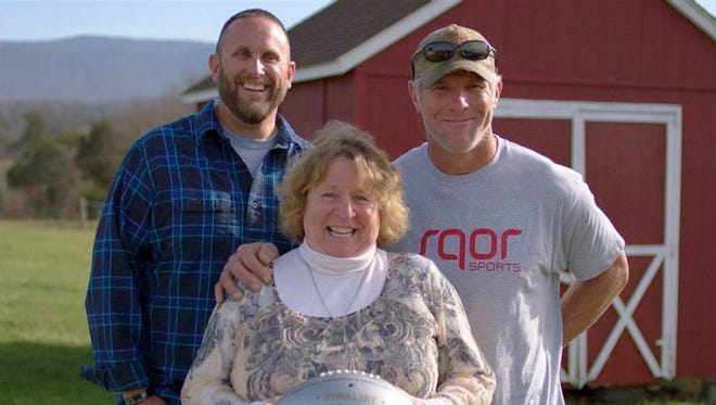 """Brett Favre surprises the mom of a fallen soldier in a video that's among the five finalists in the NFL's Together We Make Football campaign on NBC's """"TODAY."""""""