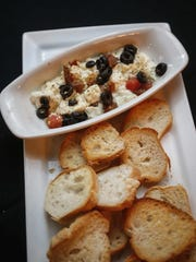 Mediterranean cheese appetizer at Simon's in Des Moines.