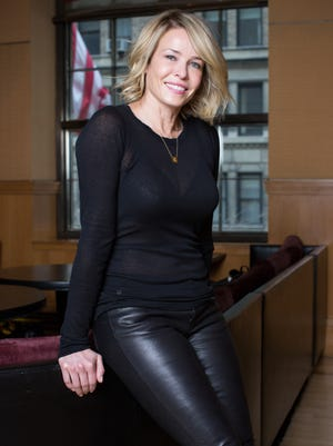 "Chelsea Handler promotes her book ""Uganda Be Kidding Me"" at the Four Seasons Hotel in New York on Jan. 31."