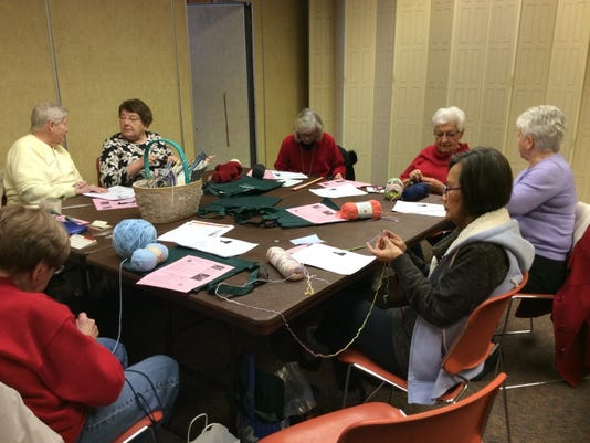 Join us from 6:30 to 8:30 tonight at the Bridgewater Library for In Stitches open knitting.