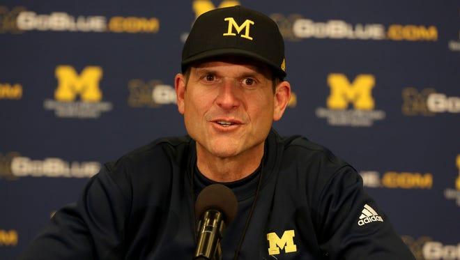 Michigan head football coach Jim Harbaugh.