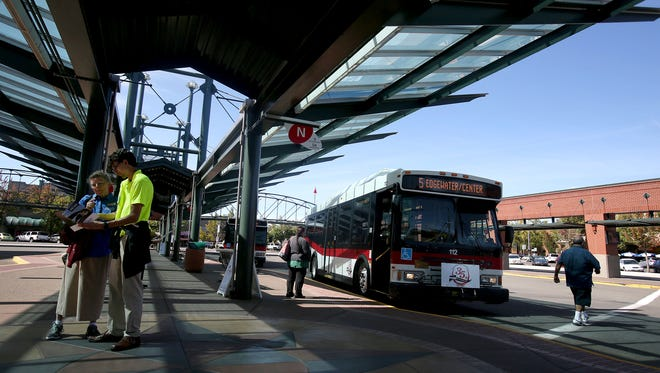 Cherriots has redesigned their public transportation routes and Tuesday was the launch in Salem and Keizer. Photo taken on Tuesday, Sept. 8, 2015.