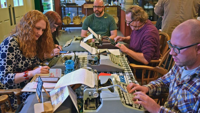 More than 50 people attended a Type-In on Saturday, Dec. 5, at Willamette Heritage at the Mill in Salem.