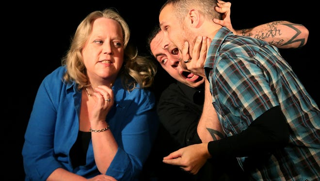 Improvisers Julie Harrison (from left), Jared Richard and Reverend Buerge perform at Capitol City Theater. The theater hosts a variety of comedy shows including Salem's Funniest Comedian Comedy Contest on July 28 and Aug. 4.