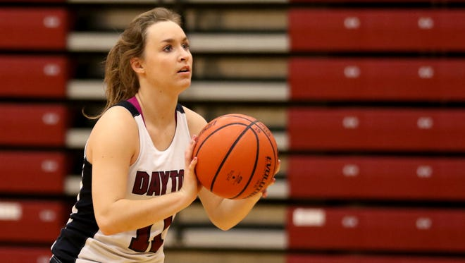 Junior Shawnie Spink leads the Dayton High School girl's basketball team. Photographed at Dayton High School on Tuesday, Nov. 22, 2016.