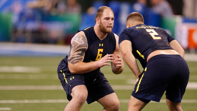 OL Ben Braden. Projected round: 6-7. His invitation to the combine was a surprise to many who figured Magnuson and Kalis had higher profiles. But he validated it, running a 5.04-40-yard dash at 329 pounds and posting a 28-inch vertical. He can play guard and tackle. Clearly some teams were interested enough to get a closer look in Feb. Maybe the interest continues late in the draft.