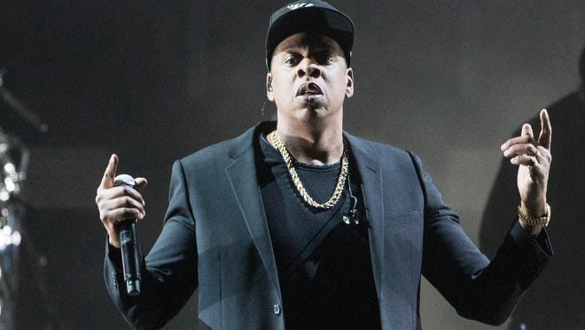 FILE - In this Nov. 4, 2016 file photo, Jay-Z performs during a campaign rally for Democratic presidential candidate Hillary Clinton in Cleveland. (AP Photo/Matt Rourke, File)