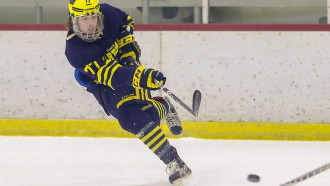 Jake DeYoung scored Hartland's only goal in a 3-1 loss to Cleveland St. Ignatius Friday night.