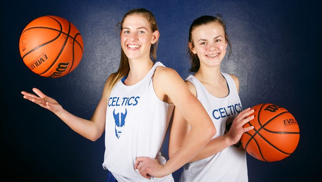 Sisters and McNary basketball players Kailey, left, and Leah Doutt, right, on Thursday, Jan. 11, 2018. Kailey is a senior who leads the team in scoring, and freshman Leah is already a major contributor.
