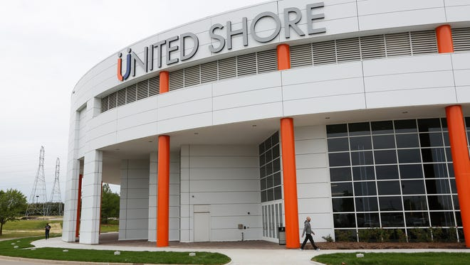 The new headquarters building for United Shore Financial Services in Pontiac on Wednesday, June 20, 2018.