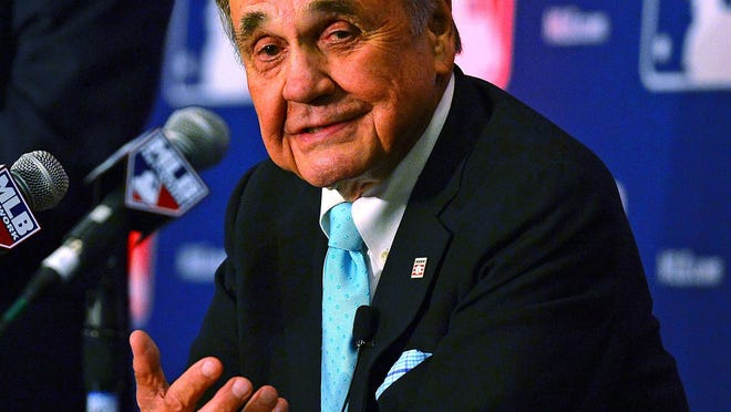 """""""It's such a nice thing for them to do,"""" Dick Enberg said of being asked to call today's Tiger game."""