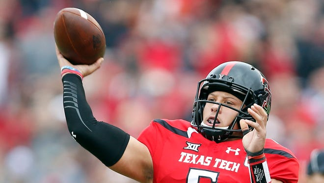 Texas Tech's Patrick Mahomes is the top-ranked quarterback in the draft.