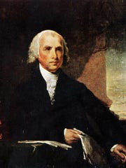 Portrait of President James Madison by artist Gilbert Stuart.