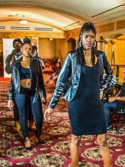 From Season 1 of the Runway In Rahway, models pose before the big show.