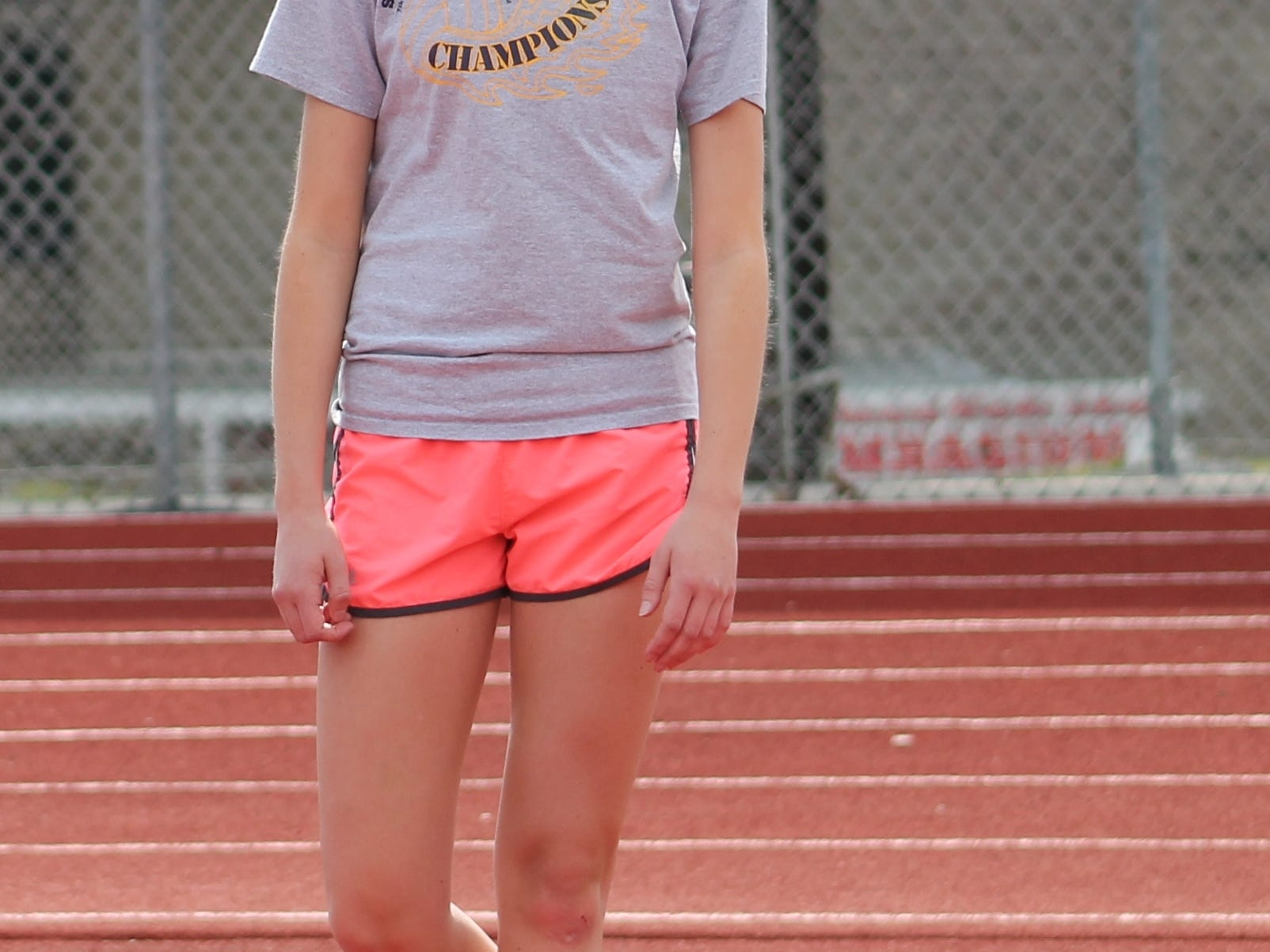 New Richmond freshman Aubree Story will high jump for the Lady Lions this spring.