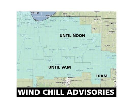 Wind chill advisories
