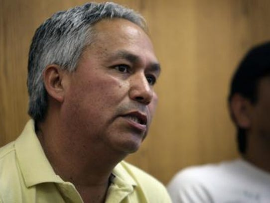 Mexican journalist Emilio Gutierrez Soto speaks in