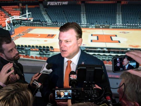 Brad Underwood, newly hired men's basketball coach