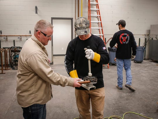 Eric Smith, training director at the Plumbers and Steamfitters