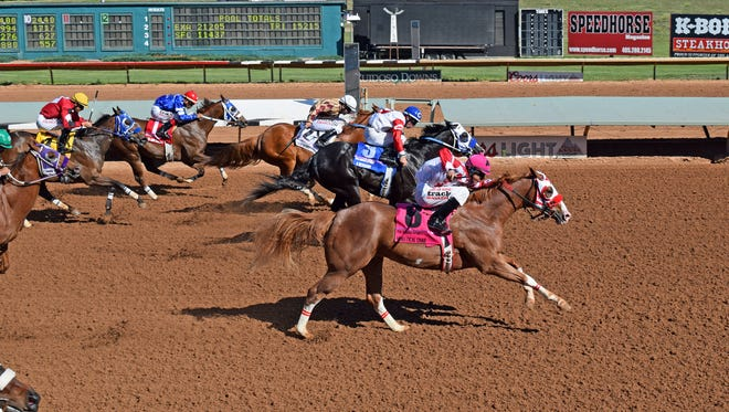 Nueve Racing's Apolltical Chad got the jump at the start and that may have been the difference in a narrow win over A Revenant in the Grade 1, $1 million Ruidoso Futurity on Sunday afternoon at Ruidoso Downs.