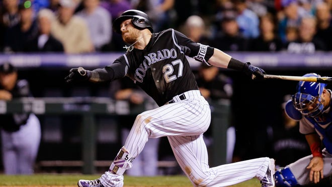Rockies shortstop Trevor Story hit 27 home runs in 97 games in 2016, but has started slowly this season.