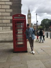 Sam Parsons abroad after competing in the 2017 NCAA Track and Field Championships.