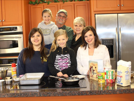 Olivia with her family on Louisiana Living