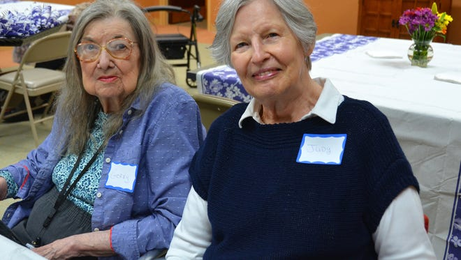 Geraldine, of Berkeley Heights, and volunteer Judy Chicka, of Summit, enjoy a Lunch, Learn & Listen program at SAGE Eldercare. Judy and Geraldine have formed a special friendship through SAGE. For more information about volunteering at SAGE, please call: (908)-273- 5554.