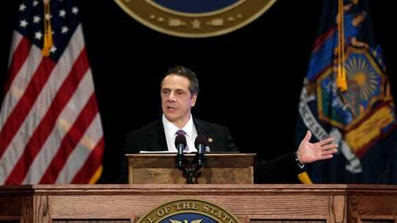 New York Gov. Andrew Cuomo delivers his State of the