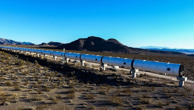 In August 2017, tests of a hyperloop prototype in the desert near North Las Vegas, Nev., accelerated a pod to almost 200 mph. The Colorado Department of Transportation and Virgin Hyperloop One are studying the feasibility of a route in Colorado.