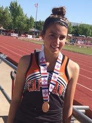 Adrianna Romero, of Capitan High School, finished in