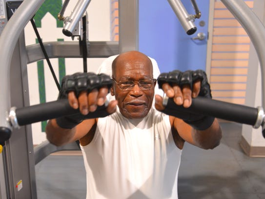John J. Anderson of Cocoa Beach works out at the Health