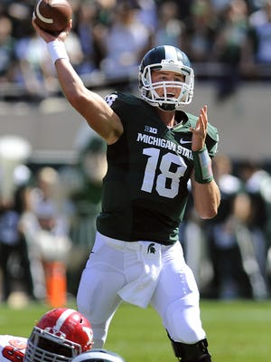 MSU senior quarterback Connor Cook has a chance this season to become the Spartans' career leader in both passing yards and touchdown passes.