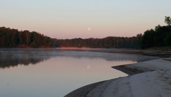 A moonrise over the Apalachicola River.