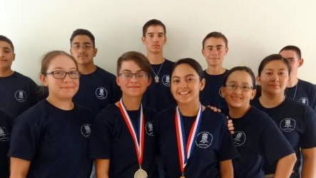 The Deming High School JROTC Wildcat Battalion Cadets are (front row from left) Jessica Garcia, Jessica Antillon, Acey Hokit, Adriana Rios and Abigail Carlos. In back, from left, are Caleb DeSantiago, Joaquin Angel, Carl Johnson, John Denning and Freddy Sanchez. Not picture is Chase Sanner.