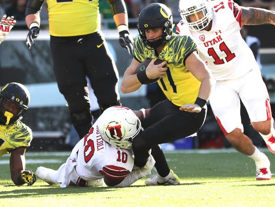 NCAA Football: Utah at Oregon
