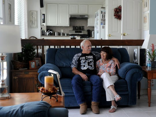 David Cope and his wife, Monica, relax at their house in Newbury Park. David Cope didn't know what sepsis was until he was diagnosed with it.