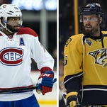 The Montreal Canadiens trade P.K. Subban to the Nashville Predators for Shea Weber.