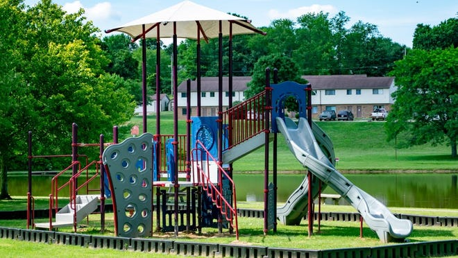 Community members can enjoy the new play pod at Jackson Park in Byesville. The project was made possible through the cooperation of the Guernsey County CDC and the Jackson Township trustees.