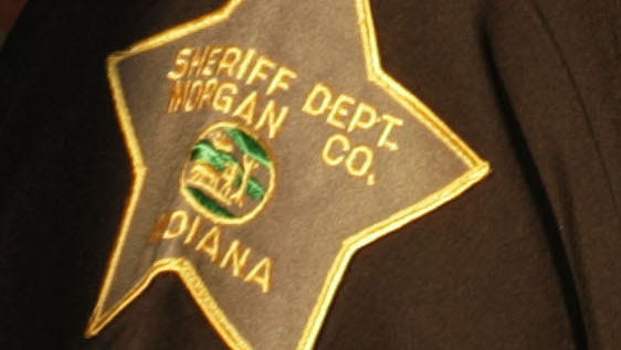 Morgan County Sheriff Office patch (Charlie Nye / The Indianapolis Star).