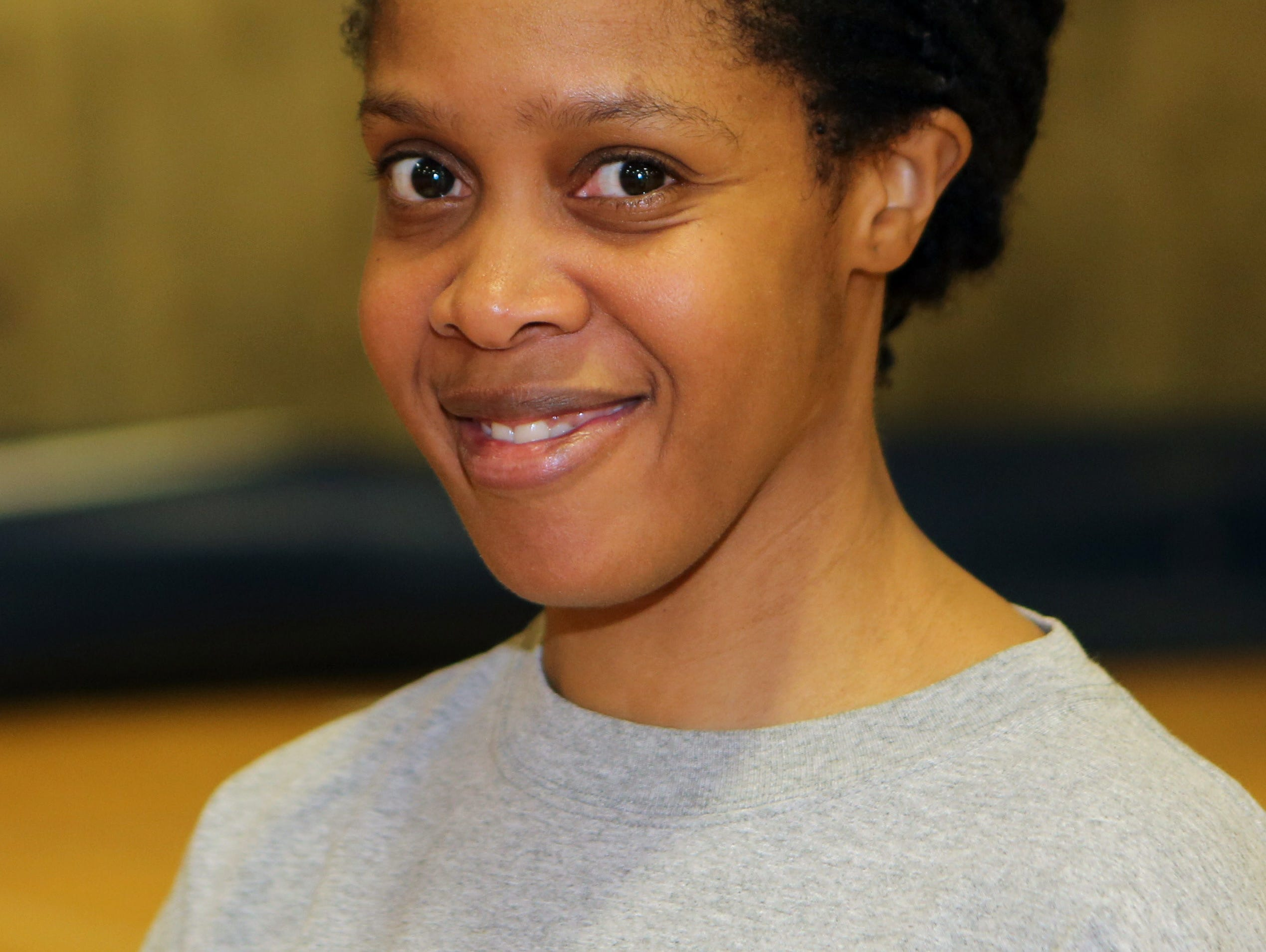 Alicia Murray, the volleyball coach at Yonkers Middle High School, Aug, 25, 2016. Murray was away from coaching for a while, but has now returned.