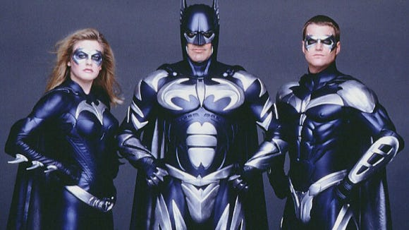 George Clooney took over the cape and cowl in Batman & Robin. Alicia Silverstone starred as Batgirl and Chris O'Donnell as Robin.