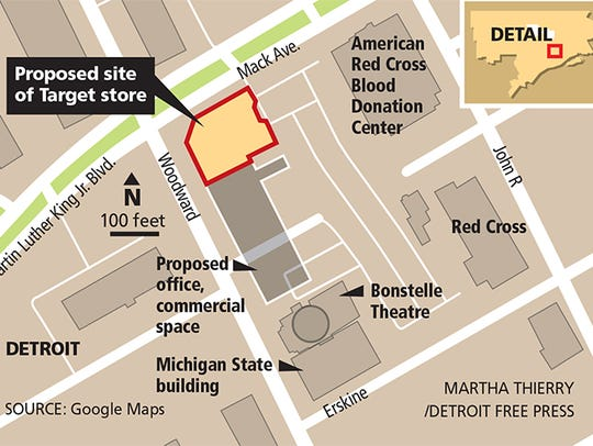 The proposed development in Midtown Detroit