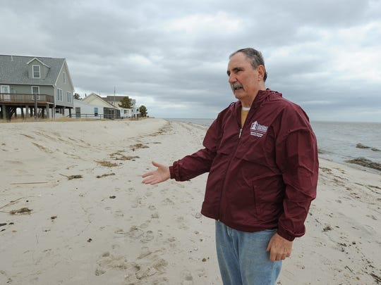 Kitts Hummock resident Mike Costello talks about land