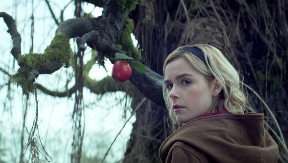 "Kiernan Shipka as Sabrina on ""Chilling Adventures of"