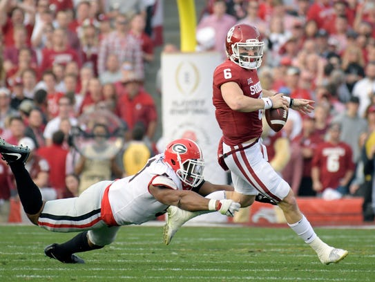 Oklahoma's Baker Mayfield is a quarterback the Bills