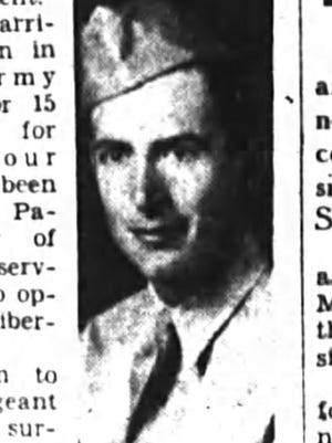 Eugene J. Darrigan is pictured in this clipping from the March 17, 1944, edition of the Poughkeepsie Journal.