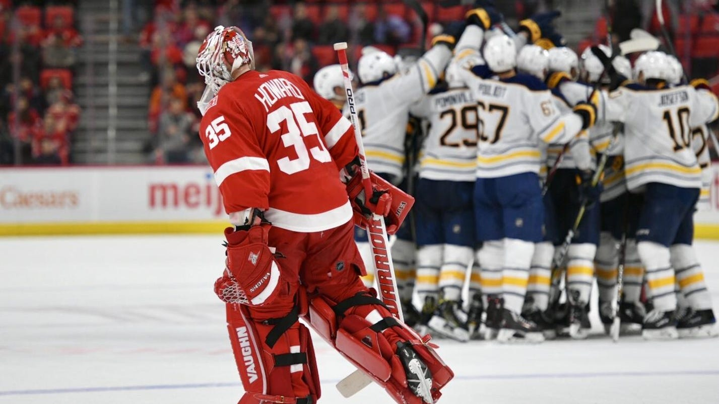 Buffaloed at the buzzer: Red Wings fall in OT